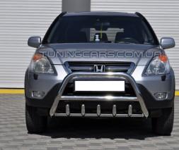 Защита переднего бампера для Honda CR-V (2001-2006) HDCR.01.F1-03 d60мм x 1.6