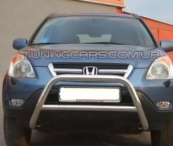 Защита переднего бампера для Honda CR-V (2001-2006) HDCR.01.F1-11 d60мм x 1.6