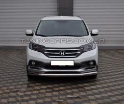 Защита переднего бампера для Honda CR-V (2006-2012) HDCR.06.F3-05 d60мм x 1.6