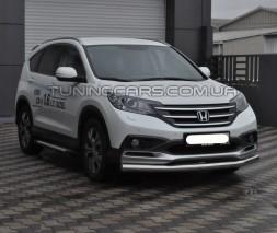 Защита переднего бампера для Honda CR-V (2010-2012) HDCR.10.F3-05 d60мм x 1.6