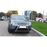 Защита переднего бампера для Honda CR-V (2001-2006) HDCR.01.F1-20 d60мм x 1.6