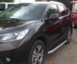Пороги Honda CR-V NS001 (Newstar Grey)
