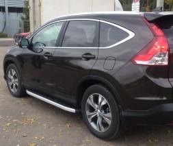 Пороги Honda CR-V NS001 (Newstar Grey)