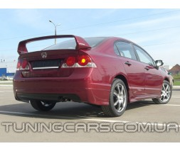 Накладка на задний бампер Honda Civic Mugen, Юбка задняя Хонда Цивик