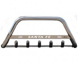 Кенгурятник Hyundai Santa Fe F1-09