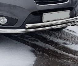 Защита переднего бампера для Hyundai Santa Fe (2006-2012) HNSF.06.F3-10 d60мм x 1.6