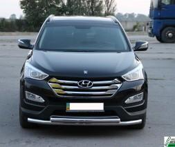 Кенгурятник Hyundai Santa Fe [2013+] ST014 (Greyder)