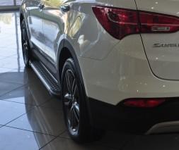 Пороги Hyundai Santa Fe AB004 (Artemis Silver)