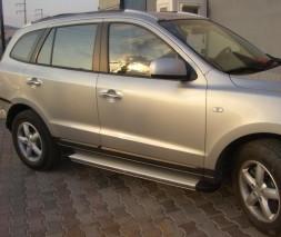 Пороги Hyundai Santa Fe EB001 (Elegance Silver)