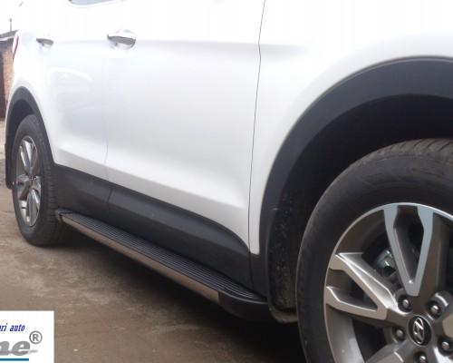 Пороги Hyundai Santa Fe EB002 (Elegance Black)