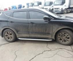 Пороги Hyundai Santa Fe NS001 (Newstar Grey)