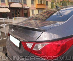 (ABS Пластик) Лип спойлер Hyundai Sonata YF, Хюндай Соната ЮФ