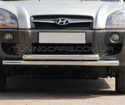 Защита переднего бампера для Hyundai Tucson (2004-2010) HNTC.04.F3-10 d60мм x 1.6