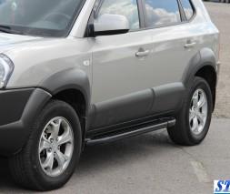 Пороги Hyundai Tucson AB005 (Artemis Black)