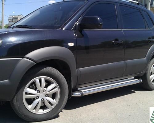 Пороги площадка для Hyundai Tucson S2-02 d60мм x 1.6