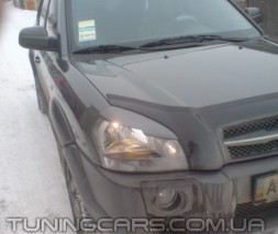 Накладки на фары (реснички) Hyundai Tucson (с вырезом), Хюндай Туксон