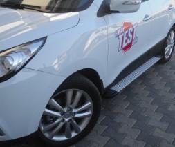 Пороги Hyundai ix35 [2010+] EB001 (Elegance Silver)