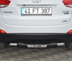 Защита заднего бампера Hyundai ix35 [2010-2014] AK029