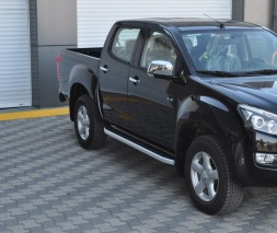Пороги Isuzu D-Max [2008+] NS001 (Newstar Grey)