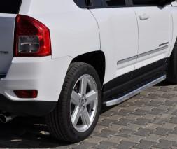 Пороги Jeep Compass [2012+] NS001 (Newstar Grey)