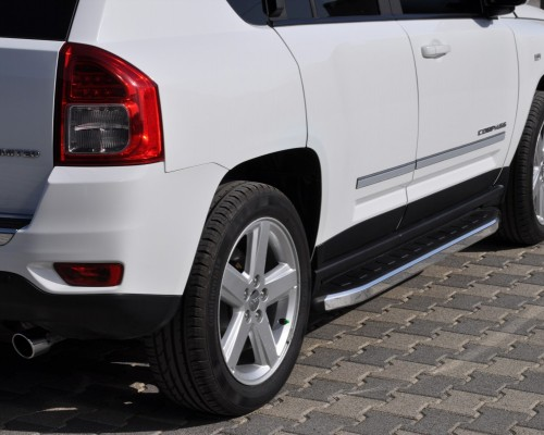 Пороги Jeep Compass (2012+) NS001 (Newstar Grey)