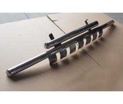 Защита переднего бампера для Jeep Grand Cherokee (2005-2010) GRCR.05.F3-23 d60мм x 1.6