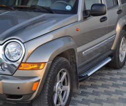 Пороги Jeep Liberty [2002+] AB004 (Artemis Silver)