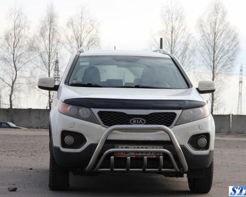 Защита переднего бампера для Kia Sorento F1-02 d60мм x 1.6