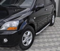 Пороги Kia Sorento [2002-2015] NS001 (Newstar Grey)
