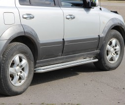 Пороги площадка для Kia Sorento (2002-2009) KASR.02.S2-01 d60мм x 1.6