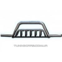 Защита переднего бампера для Kia Sportage (2004-2010) KASP.04.F1-33 d60мм x 1.6