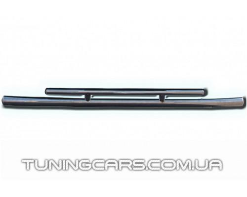 Защита переднего бампера для Kia Sportage (2004-2010) KASP.04.F3-20 d60мм x 1.6