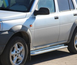 Пороги площадка для Land Rover Freelander (1998-2006) LRFL.98.S2-01 d60мм x 1.6