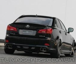 Накладка на задний бампер Lexus IS 250, 350, Лексус ИС 250