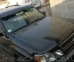 """Козырек лобового стекла Lexus LX470 """"Черный"""" (глянец), Лексус ЛХ470"""