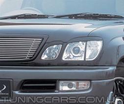 Накладки на фары (реснички) Lexus LX 470, Лексус ЛХ 470