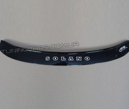 Дефлектор капота (мухобойка) для Lifan Solano 620 (LF7162) с 2008 г.в.