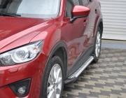 Пороги Mazda CX-5 [2012+] AB004 (Artemis Silver)