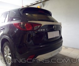 Накладка на задний бампер Mazda CX5, Диффузор заднего бампера Мазда ЦХ5
