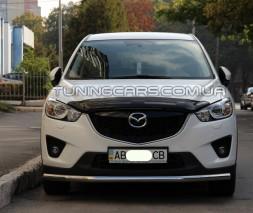 Передняя защита ус Mazda CX7 (07-10) MDX7.07.F3-05