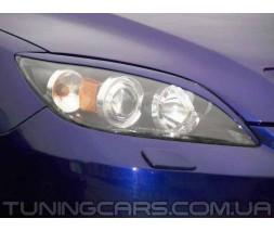 Накладки на фары (реснички) Mazda 3 sedan, Мазда 3 седан