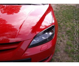 Накладки на фары (реснички) Mazda 3 Hatchback, Мазда 3 Хетчбек