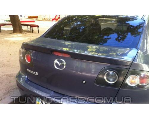 Лип Спойлер (Сабля) Mazda III Sedan, Мазда 3 (седан)