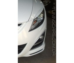 Накладки на фары (реснички) Mazda 6 (2008-2012), Мазда 6