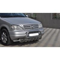 Защита переднего бампера для Mercedes-Benz ML W163 (1997-2005) MBML.97.F1-03L d60мм x 1.6