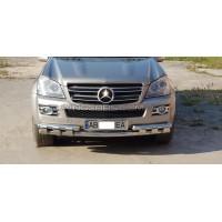 Защита переднего бампера для Mercedes-Benz GL-Class X164 (2006-2012) MBGL.06.F3-14 d60мм x 1.6