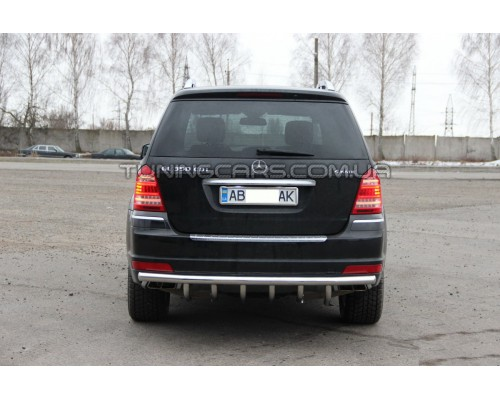 Защита заднего бампера для Mercedes-Benz GL (2006-2012) MBGL.05.B1-25 d60мм x 1.6