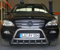 Кенгурятник Mercedes-Benz M-Class WT003 (Inform)