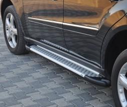 Пороги Mercedes-Benz M-Class AB004 (Artemis Silver)