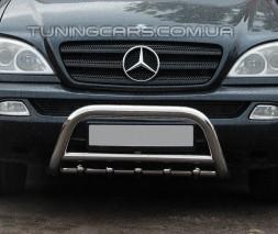 Защита переднего бампера для Mercedes-Benz ML W163 (1997-2005) MBML.97.F1-03M d60мм x 1.6
